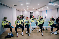 pre-training meeting<br /> <br /> Team Trek-Segafredo men's team<br /> training camp<br /> Mallorca, january 2019<br /> <br /> ©kramon