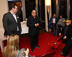 Kevin Hager, Leonard Majzlin and Henry Krieger attends the The Dramatists Guild Foundation's  dgf salon with Henry Krieger hosted by Leonard Majzlin on December 11, 2018 in New York City.