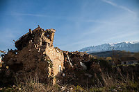 Onna, the village erased by earthquake. Italy