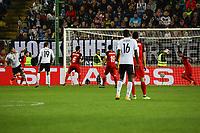 goal, Tor zum 2:1 für von Sandro Wagner (Deutschland Germany) wird von Ruslan Abishov (Aserbaidschan) hinter der Linie geklärt - 08.10.2017: Deutschland vs. Asabaidschan, WM-Qualifikation Spiel 10, Betzenberg Kaiserslautern
