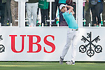 Jeunghun Wang of Korea tees off the first hole during the 58th UBS Hong Kong Golf Open as part of the European Tour on 08 December 2016, at the Hong Kong Golf Club, Fanling, Hong Kong, China. Photo by Marcio Rodrigo Machado / Power Sport Images