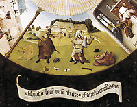 Bosch, Hieronymus Van Aeken, called (1450-1516). Table of the Seven Deadly Sins. 1475 - 1480. Detail of the anger. Flemish art