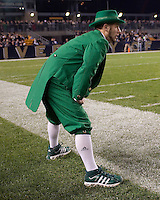 Notre Dame mascot. The Pittsburgh Panthers defeat the Notre Dame Irish 27-22 at Heinz Field, Pittsburgh Pennsylvania on November 14, 2009..