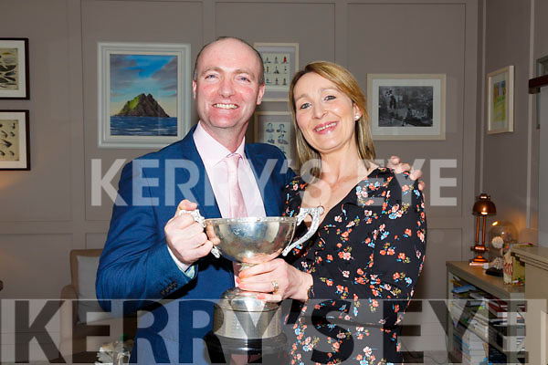 Celebrating at the Piarsaigh na Dromoda GAA Social in the Sea Lodge, Waterville on Friday night were Crohan & Orla O'Shea.