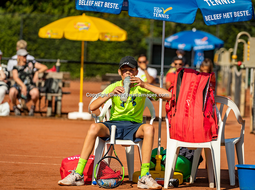 Hilversum, Netherlands, Juli 29, 2019, Tulip Tennis center, National Junior Tennis Championships 12 and 14 years, NJK, Sander Paradis (NED)<br /> Photo: Tennisimages/Henk Koster