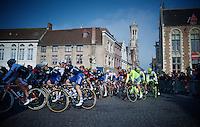 The riders leave Brugge/Bruges<br /> <br /> 100th Ronde van Vlaanderen 2016