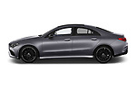 Car driver side profile view of a 2020 Mercedes Benz CLA AMG-Line 4 Door Sedan