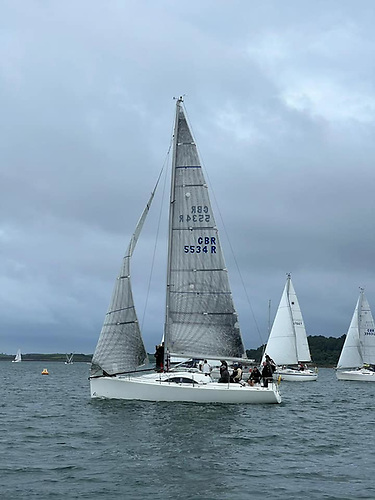 Le Basculer (Mike Spence) winner of the IRC class in the SLYC Frostie Series