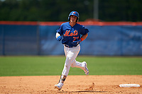 GCL Mets Nic Gaddis (73) rounds the bases after hitting a home run during a Gulf Coast League game against the GCL Marlins on August 11, 2019 at St. Lucie Sports Complex in St. Lucie, Florida.  GCL Marlins defeated the GCL Mets 3-2 in the second game of a doubleheader.  (Mike Janes/Four Seam Images)