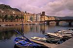 Italy, Sardinia, Bosa: ancient, phoenician town at river Temo
