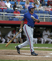 July 31, 2004:  Rob Sandora of the Vermont Expos during a game at Russell Diethrick Park in Jamestown, NY.  Vermont is the Short Season Single-A NY-Penn League affiliate of the Montreal Expos (Washington Nationals).  Photo By Mike Janes/Four Seam Images