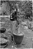 Village in the liberated areas. Vessel with pedestal. Pounding., 1974