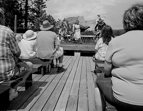 Custer, South Dakota<br /> July 25, 2011<br /> <br /> Sioux indians dance for tourists at the Crazy Horse Monument in South Dakota's Black Hills.