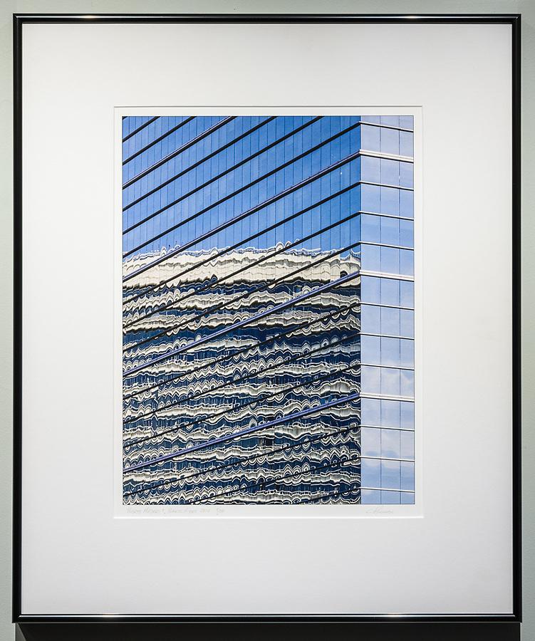 """Framed Size 24""""h x 20""""w, $450<br /> Contrast Gray Nielsen 15 metal frame"""