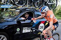 Defending World Champion Anna van der Breggen (NED/SD Worx) fetching bottles in her very last pro race<br /> <br /> Women Elite - Road Race (WC)<br /> from Antwerp to Leuven (158km)<br /> <br /> UCI Road World Championships - Flanders Belgium 2021<br /> <br /> ©kramon
