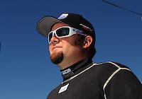Apr. 5, 2009; Las Vegas, NV, USA: NHRA top fuel dragster driver Shawn Langdon during eliminations of the Summitracing.com Nationals at The Strip in Las Vegas. Mandatory Credit: Mark J. Rebilas-