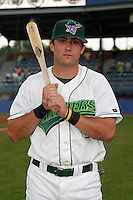 Jamestown Jammers Tanner Rogers poses for a photo before a NY-Penn League game at Russell Diethrick Park on July 9, 2006 in Jamestown, New York.  (Mike Janes/Four Seam Images)