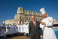 Europe/France/Aquitaine/64/Pyrénées-Atlantiques/Biarritz :l' Hotel du Palais - Jean-Louis Leimbacher,directeur  son chef  Jean-Marie Gautier et sa brigade  Restaurant : La Villa Eugénie et la Rotonde