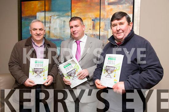 AGM: Attending the Kerry County Board AGM at the Ballyroe Heights hotel on Monday l-r John Joe O'Carroll,  Asdee, Patrick O'Sullivan, County Board chairman, Oliver Carney Asdee