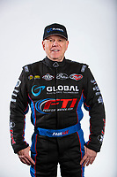 Feb 6, 2020; Pomona, CA, USA; NHRA funny car driver Paul Lee poses for a portrait during NHRA Media Day at the Pomona Fairplex. Mandatory Credit: Mark J. Rebilas-USA TODAY Sports