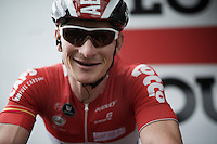André Greipel (DEU/Lotto-Soudal) during warm-up at the start<br /> <br /> stage 4: Hotel Verviers - La Gileppe (Jalhay/BEL) 186km <br /> 30th Ster ZLM Toer 2016