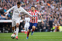 Real Madrid´s Raphael Varane and Atletico de Madrid´s during La Liga match. February 1, 2020. <br /> (ALTERPHOTOS/David Jar)<br /> 01/02/2020 <br /> Liga Spagna 2019/2020 <br /> Real Madrid - Atletico Madrid  <br /> Foto Alterphotos / Insidefoto <br /> ITALY ONLY