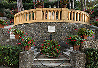 Memorial garden, Portofino, Liguria, Italy.