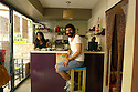 Turkey 2014   Young people in a snack bar of Diyarbakir<br /> Turquie 2014  Jeunes gens, un homme et une femme, dans un café de Diyarbakir<br /> تورکیا سالی 2014 , جحیلانی دیاربه کر, ژن و پیاوک له کافه یه ک دان