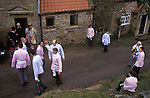 Goathland Plough Stots Goathland North Yorkshire England Sword dance performance.