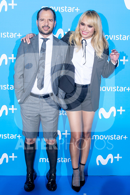 Angel Martin and Patricia Conde attends to blue carpet of presentation of new schedule of Movistar+ at Queen Sofia Museum in Madrid, Spain. September 12, 2018.  (ALTERPHOTOS/Borja B.Hojas)