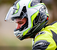 11th September 2021; Cookstown, County Tyrone, Northern Ireland, Cookstown 100 Road Races: 19 year old Jack Oliver deep in thought as he lines up in his first race at Cookstown, eventually taking second place overall in the Senior Support race