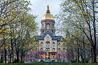 April 30, 2018; Main Building in Spring (Photo by Matt Cashore/University of Notre Dame)