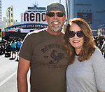 Doug and Michelle Speegle from San Diego, CA during the Italian Festival in downtown Reno on Saturday, Oct. 7, 2017.