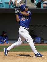 April 1, 2004:  Terrmel Sledge of the Montreal Expos (Washington Nationals) organization during Spring Training at Space Coast Stadium in Melbourne, FL.  Photo copyright Mike Janes/Four Seam Images