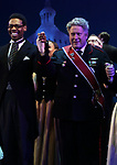 """Michael Benjamin Washington and Darrell Hammond during the Curtain Call for the closing Night performance of  Encores! """"Call Me Madam"""" at City Center on February 10, 2019 in New York City."""