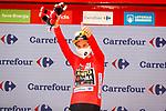 Primoz Roglic (SLO) Jumbo-Visma retains the race leaders Red Jersey at the end of Stage 2 of La Vuelta d'Espana 2021, running 166.7km from Caleruega. VIII Centenario de Santo Domingo de Guzmán to Burgos. Gamonal, Spain. 15th August 2021.    <br /> Picture: Luis Angel Gomez/Photogomezsport   Cyclefile<br /> <br /> All photos usage must carry mandatory copyright credit (© Cyclefile   Luis Angel Gomez/Photogomezsport)