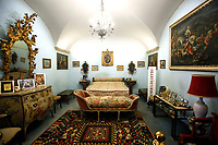 The bedroom where Alberto Sordi died during the opening of the actor's house museum in Rome. In occasion of the centenary of his  birth, the villa in the heart of Rome, where he lived from 1959 to death, was opened to the public, becoming a house-museum. The house still contains thousand of objects belonged to the actor. In the garden two more tensile structures were added, containing stage clothes, posters of his films, photos and much more. <br /> Rome (Italy), September 15th 2020<br /> Photo Samantha Zucchi Insidefoto