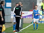 Partick Thistle v St Johnstone…28.10.17…  Firhill…  SPFL<br />Stefan Scougall limps off injured<br />Picture by Graeme Hart. <br />Copyright Perthshire Picture Agency<br />Tel: 01738 623350  Mobile: 07990 594431