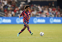 KANSAS CITY, KS - JULY 15: Gianluca Busio #6 of the United States passes off the ball during a game between Martinique and USMNT at Children's Mercy Park on July 15, 2021 in Kansas City, Kansas.