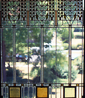 F.L. Wright: Darwin D. Martin House. Window detail.  Photo '88.