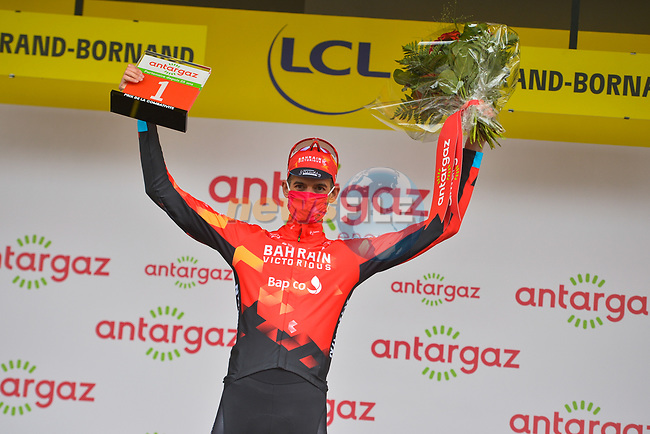 Wout Poels (NED) Bahrain Victorious wins the days combativity prize at the end of Stage 8 of the 2021 Tour de France, running 150.8km from Oyonnax to Le Grand-Bornand, France. 3rd July 2021.  <br /> Picture: A.S.O./Charly Lopez   Cyclefile<br /> <br /> All photos usage must carry mandatory copyright credit (© Cyclefile   A.S.O./Charly Lopez)