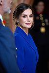 Queen Letizia of Spain attends the New Year Military parade 2020 celebration at the Royal Palace. January 6,2020. (ALTERPHOTOS/Pool)