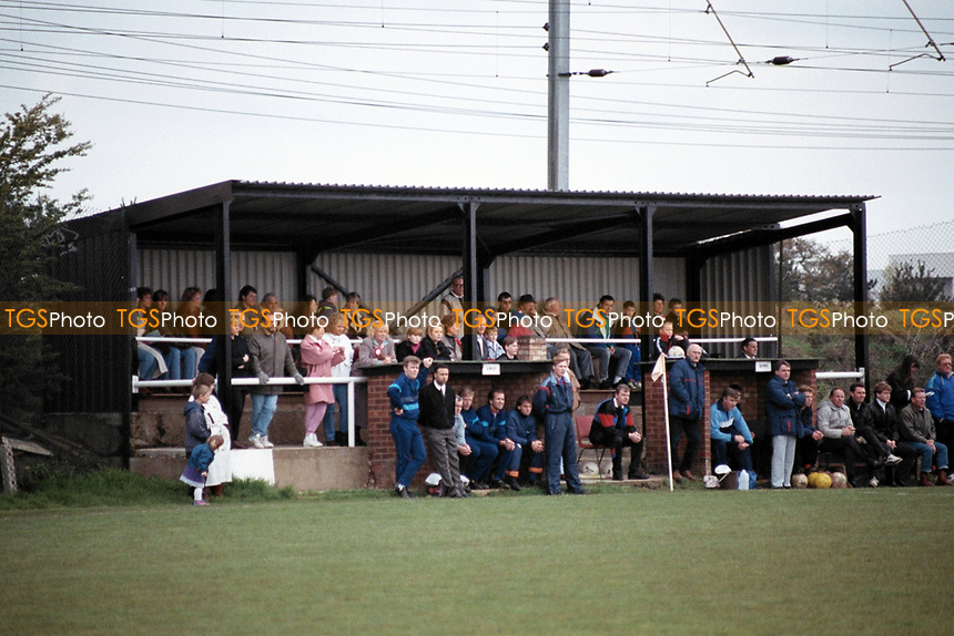 The main stand at Knebworth Football Club, Hertfordshire