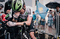 Ben King (USA/Dimension Data) after a hard stage<br /> <br /> stage 17: Riva del Garda - Iseo (155 km)<br /> 101th Giro d'Italia 2018