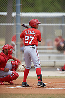 Washington Nationals Blake Perkins (27) at bat during a minor league Spring Training game against the St. Louis Cardinals on March 27, 2017 at the Roger Dean Stadium Complex in Jupiter, Florida.  (Mike Janes/Four Seam Images)