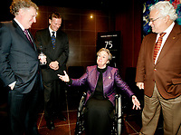 Montreal (Qc) CANADA - file photo-Novr 23, 2006- <br /> Jean Charest , Quebec Premier (L), Lise Thibault, Lieutenant Governor of Quebec  (R) .<br /> <br /> Charest was elected for the first time  April 14 2003, he is seeking a 3rd term in the  Quebec provincial election which will be held Dec 14, 2008.<br /> <br /> Lise Thibault (born April 2, 1939) is a Canadian civil servant who was appointed Lieutenant Governor of Quebec on January 30, 1997. As a former Vice-Regal representative of Elizabeth II, as Queen in Right of Quebec, she is styled The Honourable for life.<br /> <br /> Prime Minister Jean ChrÈtien, the Governor General appointed her Lieutenant-Governor of Quebec, following the resignation of Jean-Louis Roux. She became Quebec's first female viceroy, and the first disabled lieutenant governor in Canada; Thibault was permanently disabled in a tobogganing accident as a teenager, and uses a wheelchair. In February 2005 Madame Thibault suffered a stroke.<br /> <br /> She is one of the longest serving lieutenant governors in Canadian history, having served for over ten years. In 2007, she was accused of spending beyond the limits of her expense account. Prime Minister Stephen Harper announced that he would recommend the appointment of a new Lieutenant Governor after the provincial election; it was said by the Prime Minister's Office that the decision to replace Thibault had nothing to do with her spending. The appointment of her successor, Pierre Duchesne, was announced on May 18, 2007.<br /> Questions on her spending continued after her departure, with federal and provincial auditors general pointing to $700,000 in unjustified expenses (CBC). The files were turned over to the SuretÈ du QuÈbec (SQ) and Royal Canadian Mounted Police (RCMP) for investigation.<br /> <br /> Photo (c)  Images Distribution