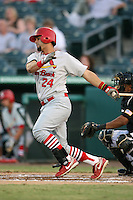 April 13, 2009:  Catcher Paul Vazquez (24) of the Palm Beach Cardinals, Florida State League Class-A affiliate of the St. Louis Cardinals, during a game at Hammond Stadium in Fort Myers, FL.  Photo by:  Mike Janes/Four Seam Images