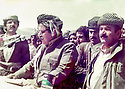 Iraq 1984 .In Surdach, celebration of Nowruz, with Jelal Talabani and Mullazem Omar .Irak 1984.A Surdach, fete de Nowruz, Jelal Talabani et Mullazem Omar