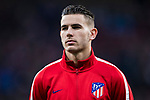Lucas Hernandez of Atletico de Madrid looks on prior to the UEFA Europa League 2017-18 Round of 16 (1st leg) match between Atletico de Madrid and FC Lokomotiv Moscow at Wanda Metropolitano  on March 08 2018 in Madrid, Spain. Photo by Diego Souto / Power Sport Images