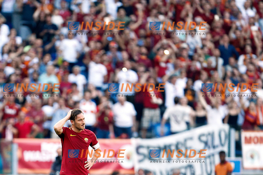 Francesco Totti last match with AS Roma<br /> Roma 28-05-2017 Stadio Olimpico Football Calcio Serie A 2016/2017 AS Roma - Genoa  Foto Giampiero Sposito / Insidefoto